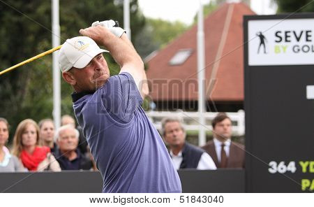 Thomas Bjorn at the Seve Trophy 2013