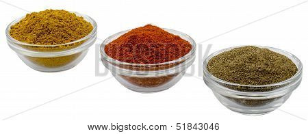 Glass Filled With Pepper Curry And Paprika
