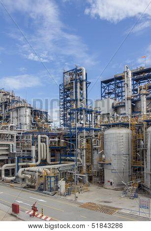 Petrochemical Plant Wit Blue Sky