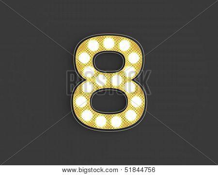 Light Vintage Number Eight