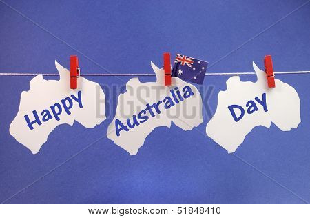 Celebrate Australia Day Holiday On January 26 With A Happy Australia Day Message Greeting Written Ac