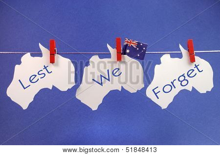 Lest We Forget Australia bunting