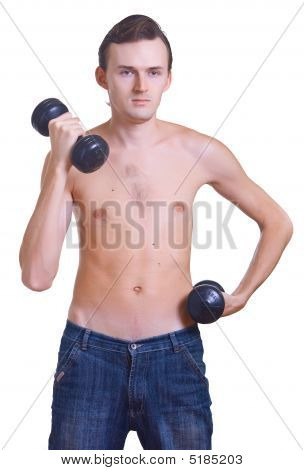 Naked Men With Dumbbells