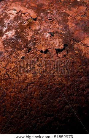 Oxidized metal surface making an abstract texture, high resolution.