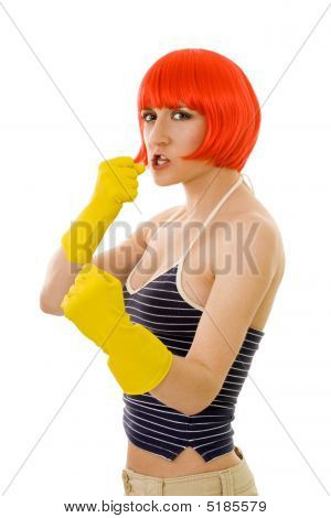 Mulher lutando