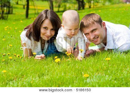 Family In Park