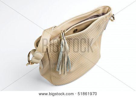 women beige handbag