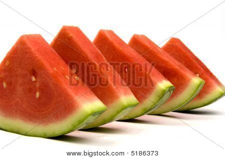 Linha de triângulos de melancia