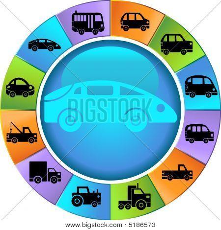 Vehicle Wheel Icon