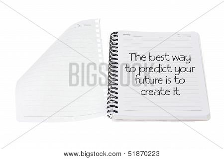 Note Book with Message of Inspiration