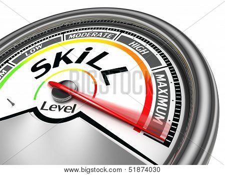 Skill Level Conceptual Meter
