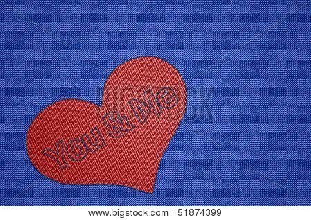 You and Me Heart Shape