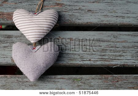 Two Grey Hearts
