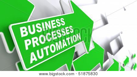 Business Processes Automation Concept.