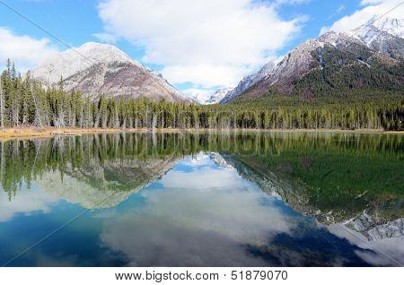 Reflection Of Mount Buller And Mount Engadine