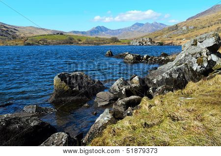 Snowdon From Llynnau Lake