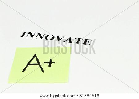 A+ Grade For Innovation