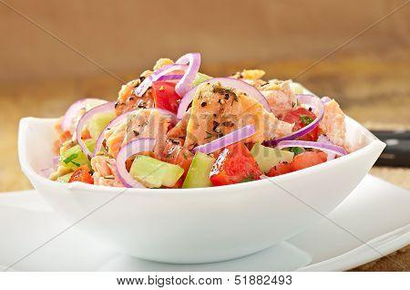 Salad Sheppard c Norwegian salmon