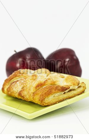 Flakey Apple Strudel In Vertical Image