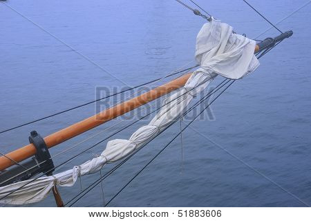 Closeup Of A Tall Ship Sailing Vessel Bow