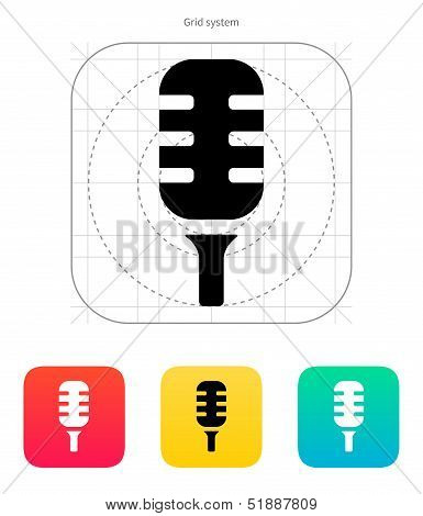 Studio microphone icon.