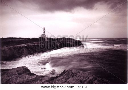 Lighthouse With Storm
