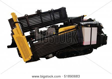 machine for digging of trenches under the white background