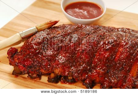 Slab Of Bbq Spare Ribs
