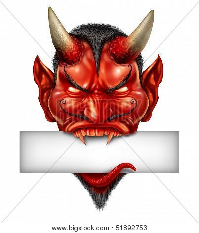 Devil Head Blank Sign