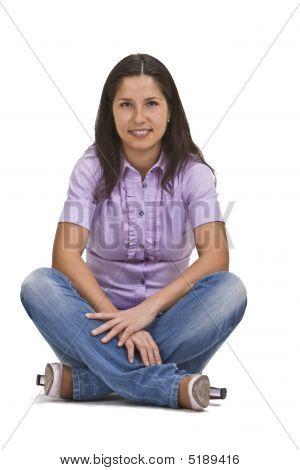 Woman Sitting Crossed Legs