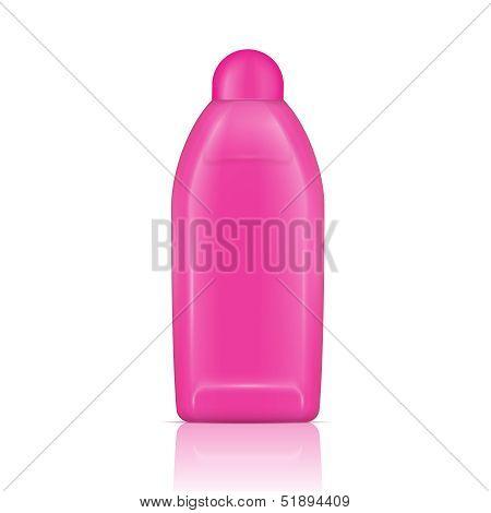 Pink vanishing liquid bottle.