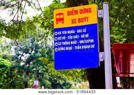 Vietnam Bus Stop Station