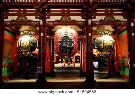 Sensoji Temple In Night Timing