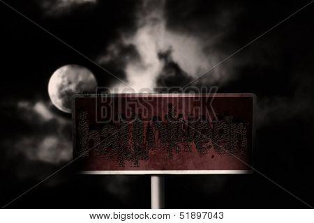 Grunge sign board