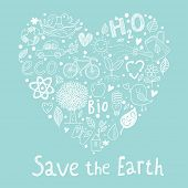 stock photo of save earth  - Save the earth - JPG