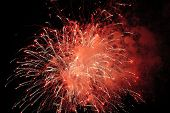 Red Fireworks Display t-shirt