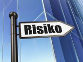 Business concept: Risiko(german) on Building background