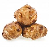 stock photo of jerusalem artichokes  - Jerusalem artichoke heap - JPG