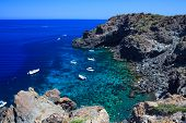 picture of sedimentation  - View of Pantelleria coast famous island in Sicily - JPG