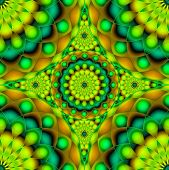 picture of psychedelic  - Digital art abstract background colorful Psychedelic Visions - JPG