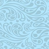 picture of swirly  - Water splash seamless waves abstract pattern - JPG