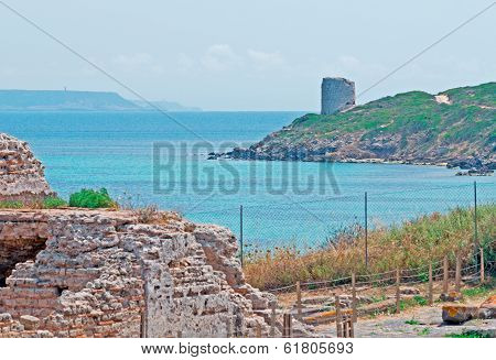 Tharros And San Giovanni Tower