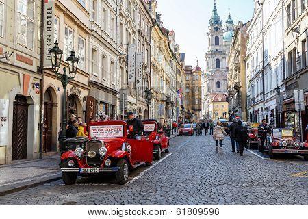 Famous Historic Red Car Praga
