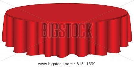 Round Table With Tablecloth
