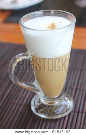 Coffee Latte With Frothy Milk