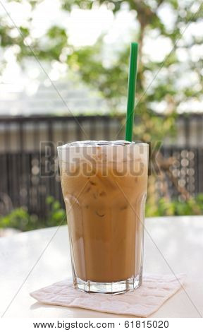 Cold Coffee Drink With Ice.