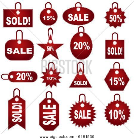 retail pricing tag set
