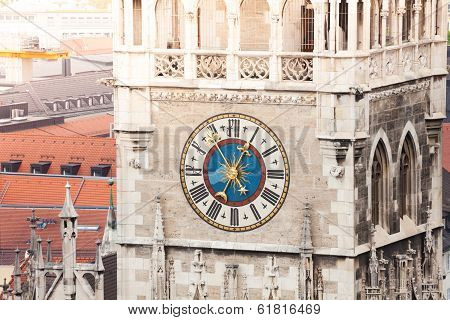 Glockenspiel Clock in Munich, Bavaria, Germany