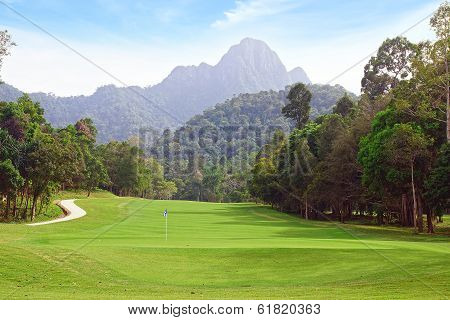 Landscape with Golf course.