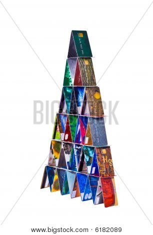 The Tower Constructed Of Credit Cards